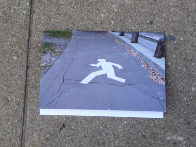 Cracks in Sidewalks Crosswalk Man.
